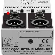 Ди-бокс активный двухканальный BEHRINGER DI20