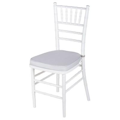 Аренда банкетного стула «Кьявари» с подушкой белого цвета