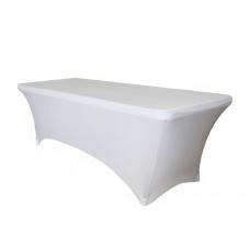 Стрейч чехол для прямоугольного стола, белый
