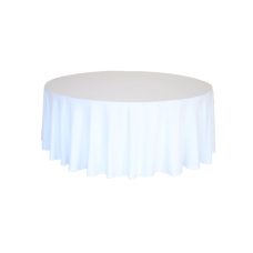 Скатерть круглая, цвет белый,  d310 см