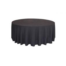 Скатерть круглая, цвет черный, d310 см