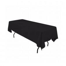 Скатерть прямоугольная, цвет черный,150x250 см