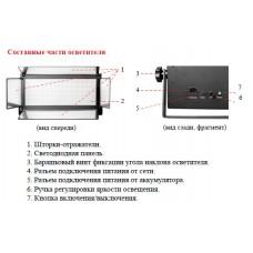Осветитель светодиодный Falcon Eyes LG 900/LED V-mount (54 Вт)